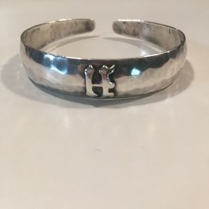 Beautiful 925 Sterling Silver Cuff With H Intial
